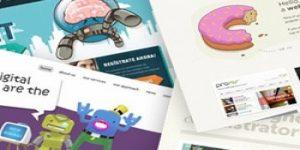30 exemplos de web design + ilustração