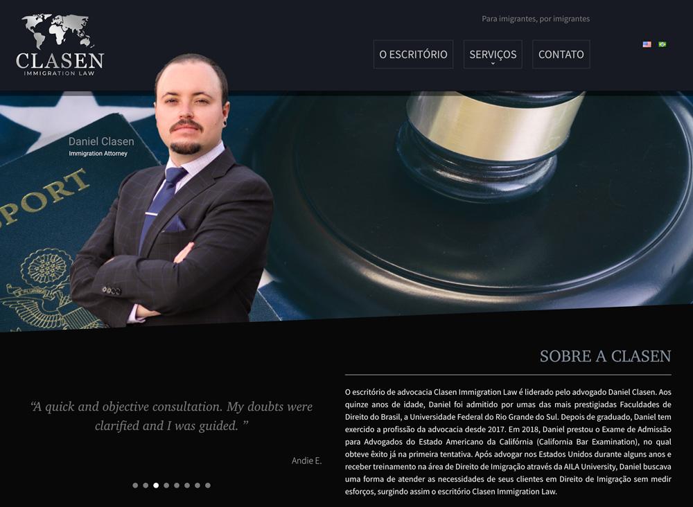 Website Layout Clasen Law