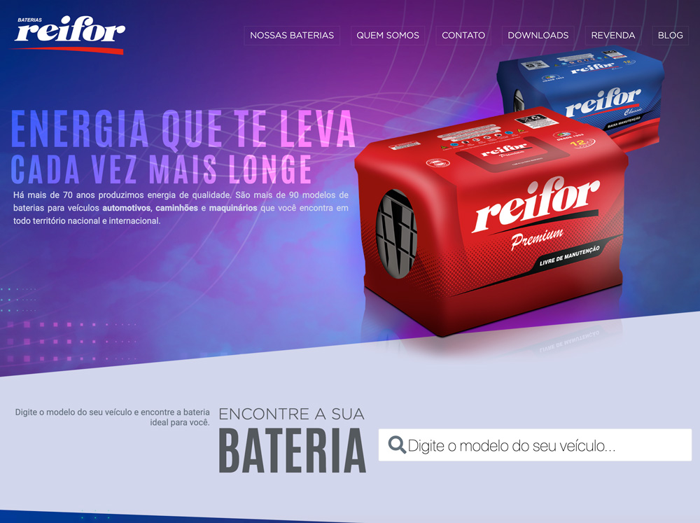 Layout Website Reifor Baterias